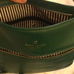Kate Spade green leather shoulder bag
